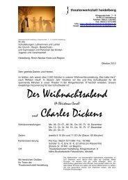 Ihre Schulvorstellung - Theaterwerkstatt Heidelberg