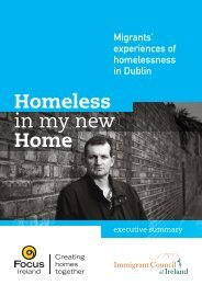 Homeless in my new Home - Focus Ireland