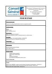 Fiche de stage - Conseil général de Côte-d'Or