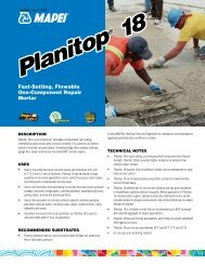 Planitop 18 - Specialty Products, Inc.