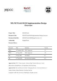MS.NETGrid OGSI Implementation Design Overview - EPCC