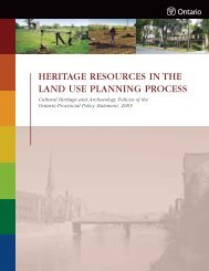 Heritage Resources in the Land Use Planning Process - Ministry of ...