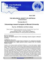 Volcanology research program at Monash University - Geological ...