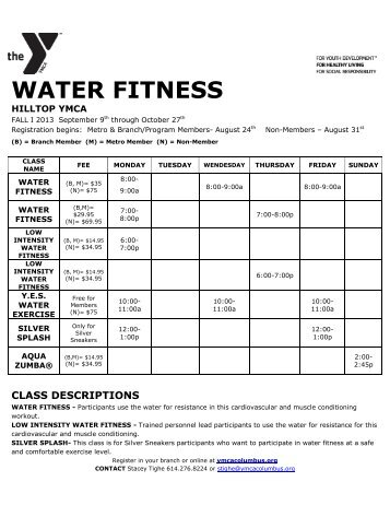 Fall 2 2012 Water Fitness Hilltop.docx