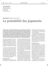 La probabilité des jugements - Nieuw Archief voor Wiskunde