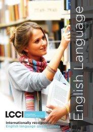 Internationally recognised English language qualifications - LCCI ...