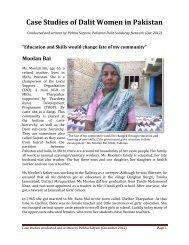 Case Studies of Dalit Women in Pakistan - International Dalit ...