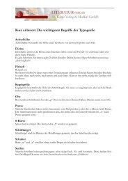 Kurz erläutert: Die wichtigsten Begriffe der Typografie