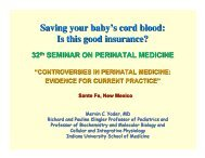 Saving Your Baby's Cord Blood - American Academy of Pediatrics