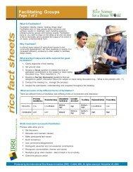 Facilitating Groups - Rice Knowledge Bank - International Rice ...