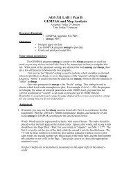 AOS 311 LAB 1 Part B GEMPAK and Map Analysis