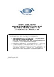 General guidelines for National Tourism Administrations (NTAs)