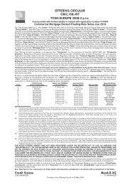 OFFERING CIRCULAR Y862,168,457 TITAN EUROPE 2006-2 p.l.c. ...