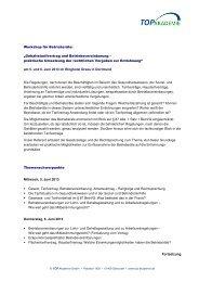 """Workshop für Betriebsräte: """"Gehaltstarifvertrag und ..."""