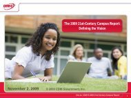 The 2009 21st-Century Campus Report: Defining the Vision ... - CDW