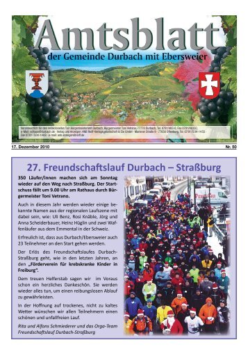 27. Freundschaftslauf Durbach – Straßburg