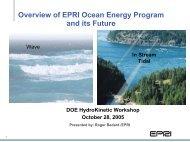 Overview of EPRI Ocean Energy Program and its Future - U.S. DOE ...