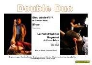 Dieu aboie-t'il ? Le Fait d'habiter Bagnolet - Theatre-contemporain.net
