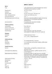Tekniske specifikationer (.pdf) - BMW MC Klub Danmark