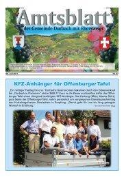 Kfz-Anhänger für Offenburgertafel - Durbach