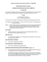 Resources Overview and Scrutiny Committee ... - Dorsetforyou.com