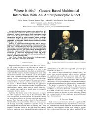 Gesture Based Multimodal Interaction With An Anthropomorphic Robot