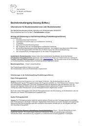 Bachelorstudiengang Gesang (B.Mus.) - Hochschule für Musik ...