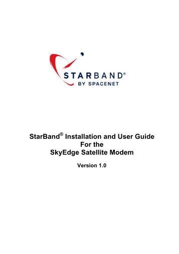SE Satellite Modem User Guide - v.1.0 - StarBand Installation