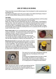 Diving reels notes - Plymouth University