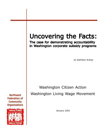 Uncovering the Facts: The case for demonstrating accountability in ...