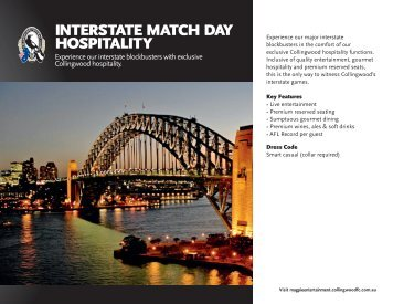 INTERSTATE MATCH DAY HOSPITALITY
