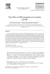 The effect of IMF programs on economic growth - UCLA International ...