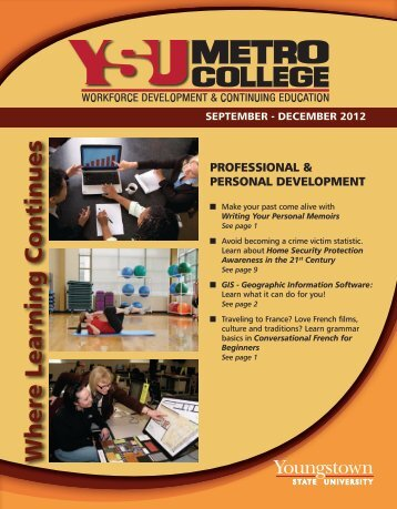 Fall 2012 catalog - YSU - Youngstown State University