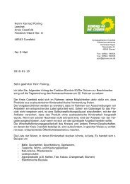 Herrn Konrad Püning Landrat Kreis Coesfeld Friedrich-Ebert-Str. 8 ...