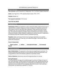 Toglia Category Assessment (TCA)