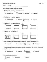 Quadrilaterals Practice Test Page 1 of 4 Name: - LS Home Page