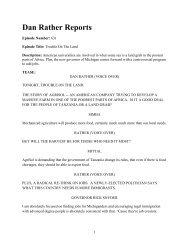 Dan Rather Reports - Oakland Institute