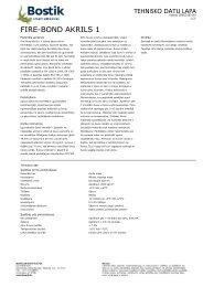 Tehnisko datu lapa - Bostik