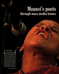 Mzansi's poets through mass media lenses - Rjr.ru.ac.za