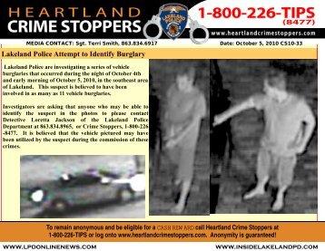 Lakeland Police Attempt to Identify Burglary - Heartland Crime ...