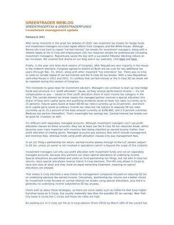 GREENTRADER WEBLOG - MoneyShow.com