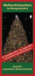 Flyer Weihnachtsleuchten - Hotel Friends