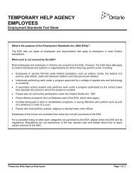 Temporary Help Agency Employees: Fact Sheet
