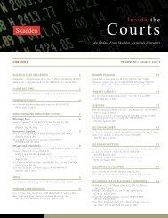 Inside the Courts | Volume 3 | Issue 4 | November 2011 - Skadden