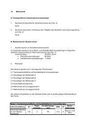 16. Mathematik A. Fachspezifische Zulassungsvoraussetzungen 1 ...