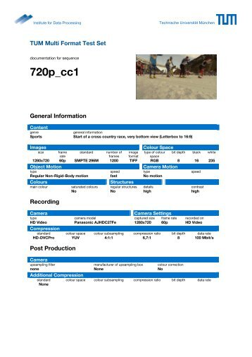 TUM Multi Format Test Set 720p.pdf - Lehrstuhl für Datenverarbeitung
