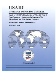 Draft HIV-AIDS Capping Report - US Agency For International ...