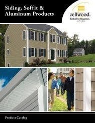 2013 Cellwood Siding, Soffit & Aluminum - Huttig Building Products