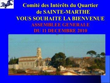 ZAC DES HAUTS DE SAINTE MARTHE (150 ha) - Comité des ...