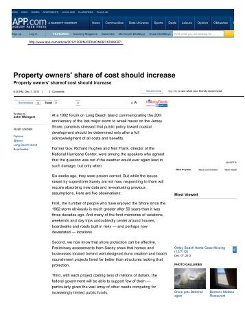 Property owners' share of cost should increase - Eagleton Institute of ...
